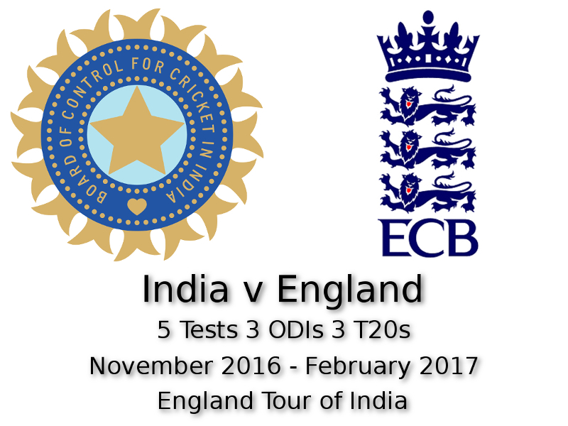 England Tour of India 2017