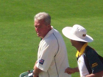 Bob Woolmer in charge of Pakistan at Old Trafford